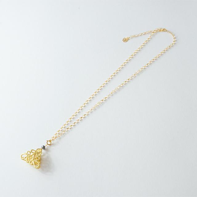 金箔|フラジオレット(あこや真珠)ネックレス