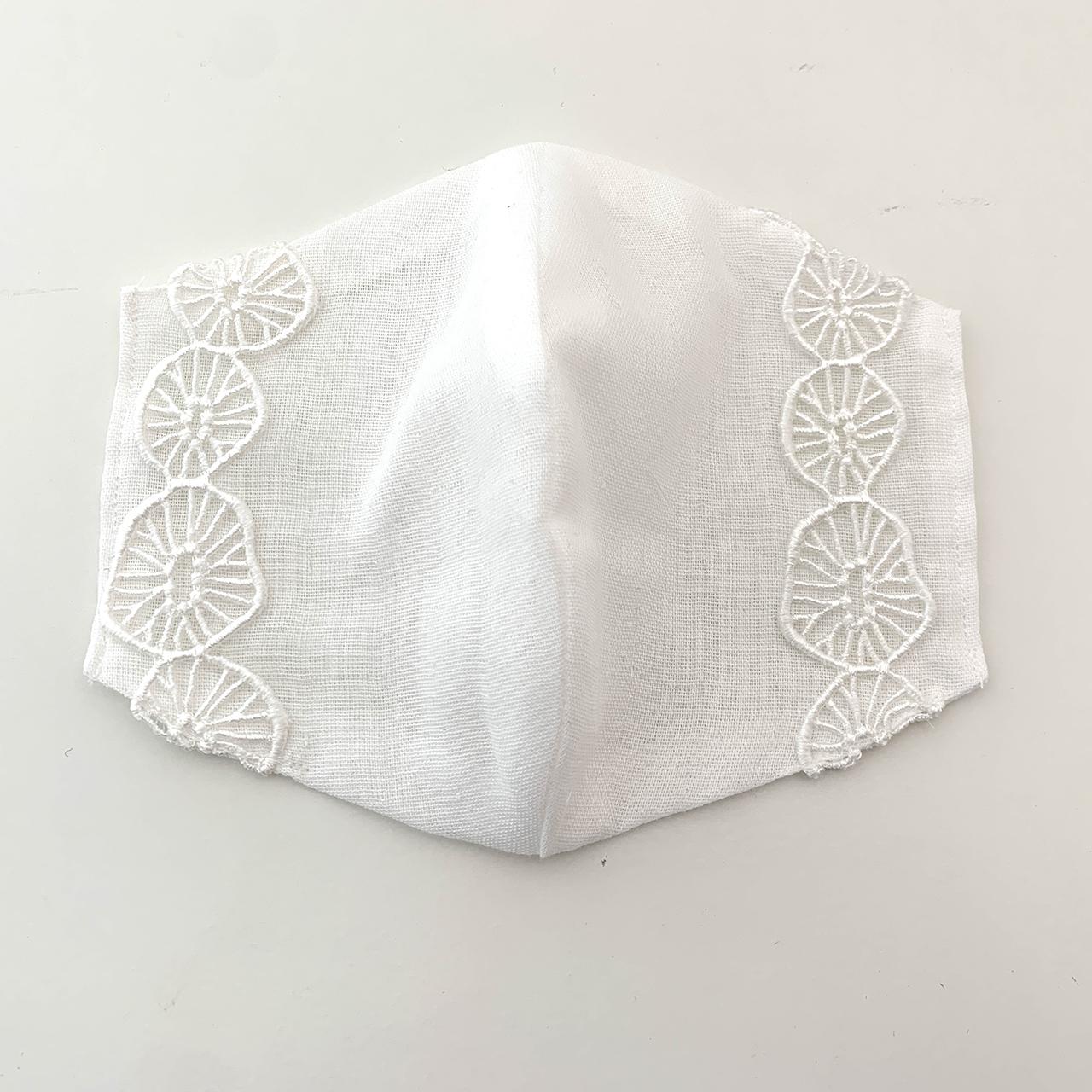 インナーマスクカバー「3枚セットA」 不織布マスクの下にするガーゼのゴムなしマスクカバーです