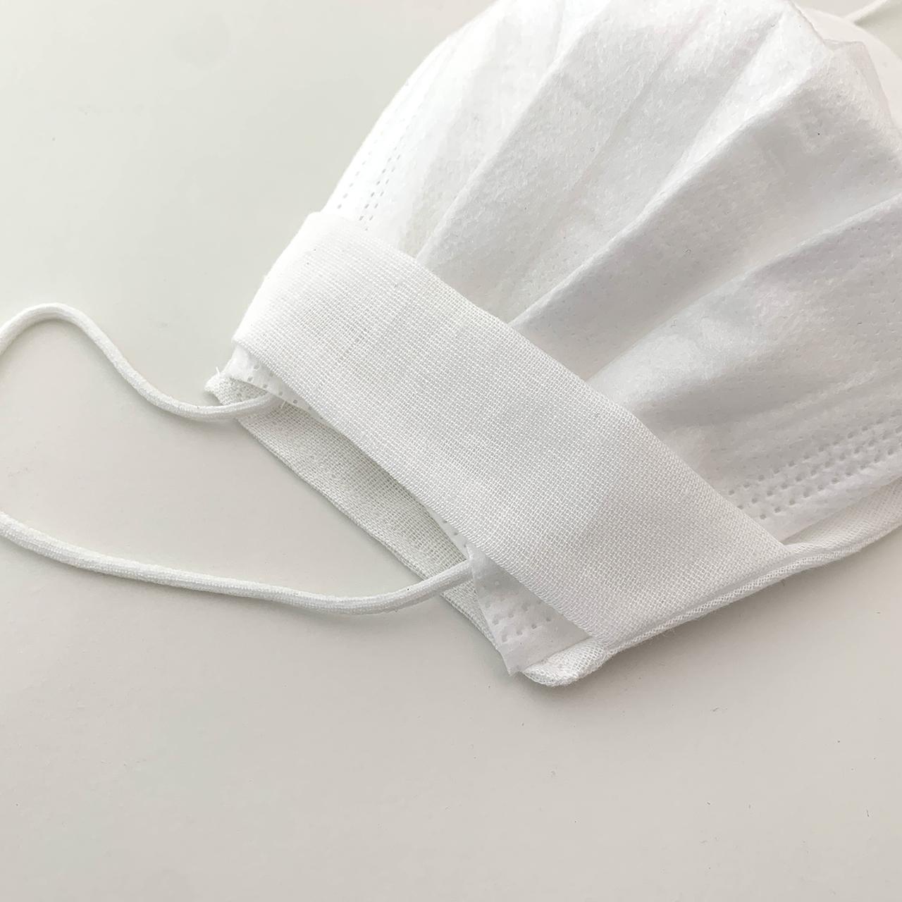インナーマスクカバー「シンプル」 不織布マスクの下にするガーゼのゴムなしマスクカバーです