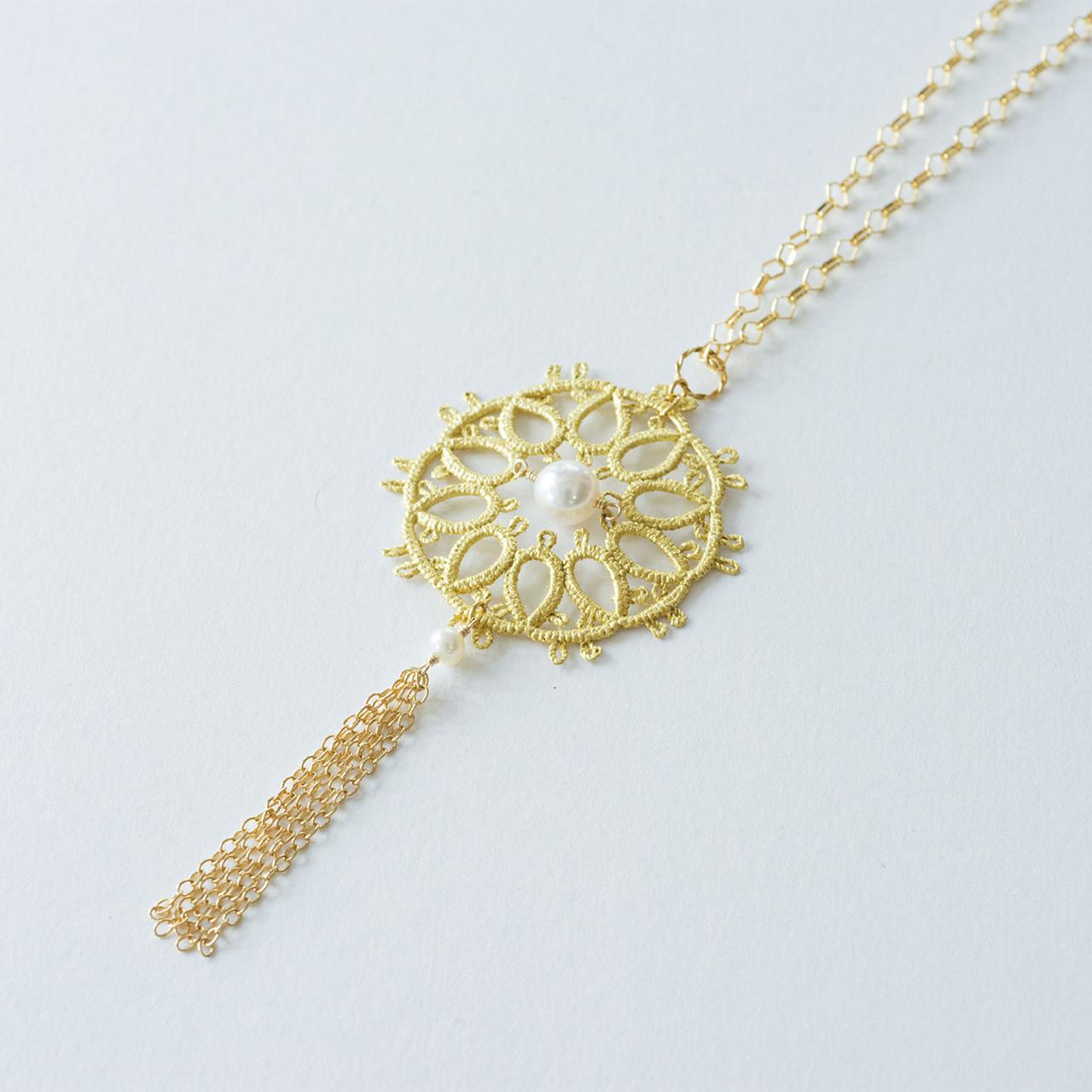 金箔|ルー・フリンジ(あこや真珠)