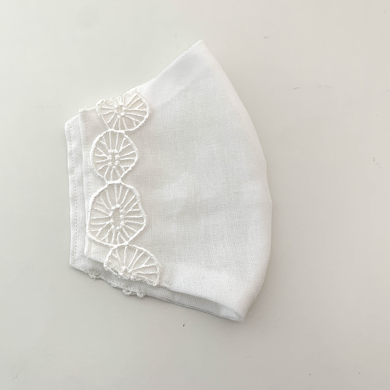 インナーマスクカバー「森の花」 不織布マスクの下にするガーゼのゴムなしマスクカバーです