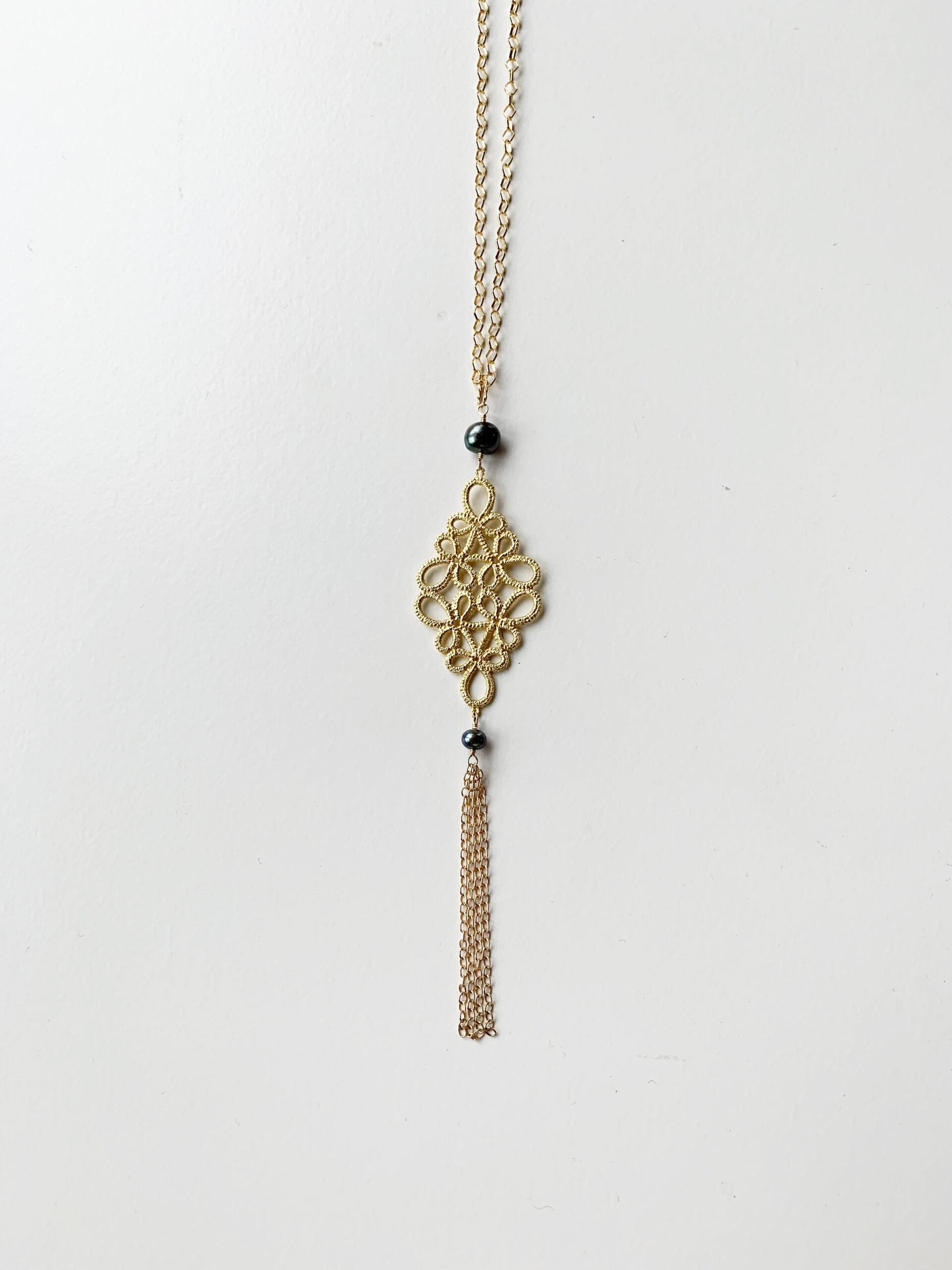 フラジオレット 淡水真珠(黒系) ペンダント