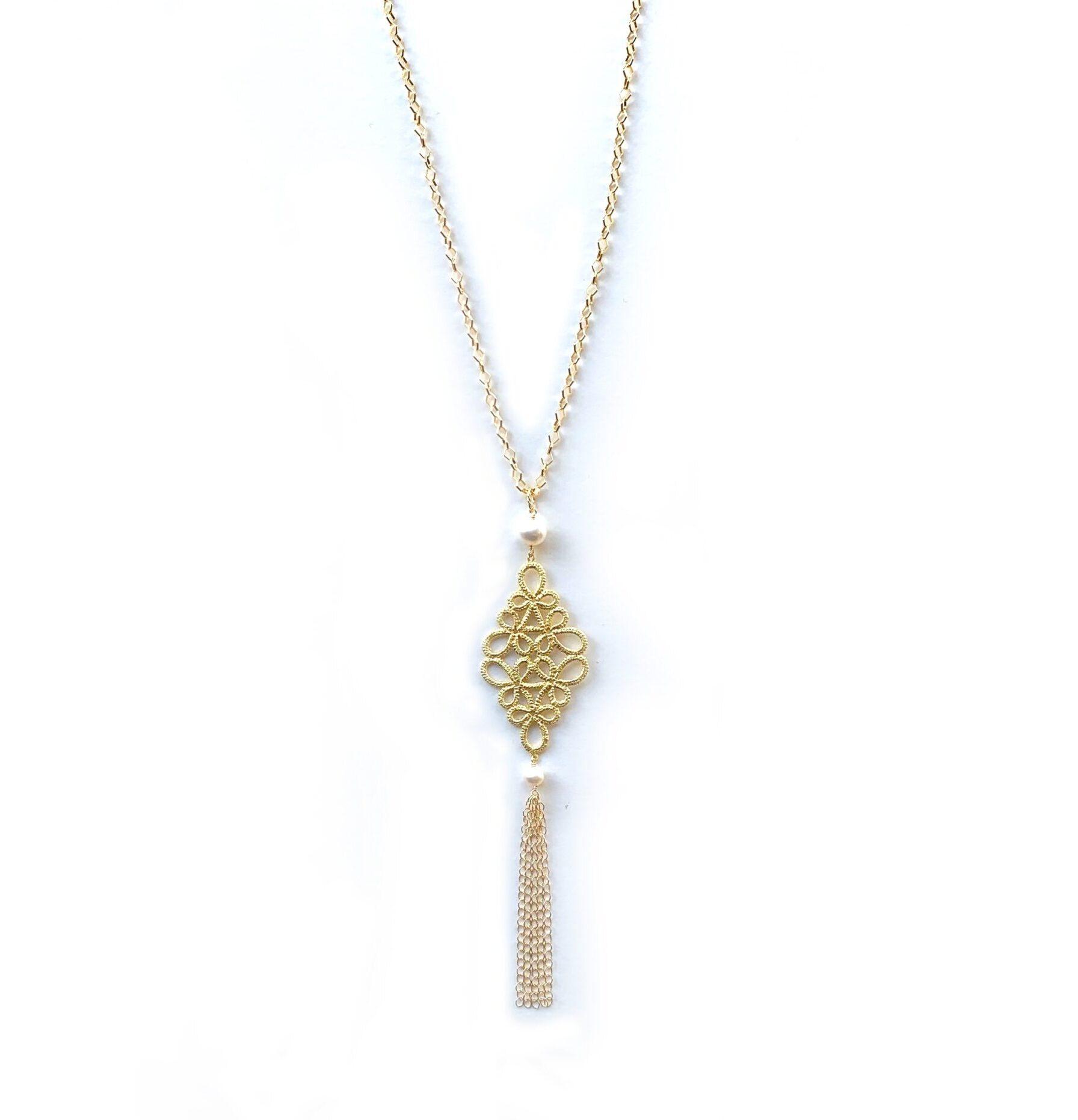 フラジオレット 淡水真珠(白) ペンダント