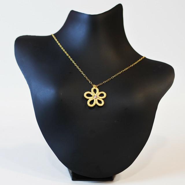 金箔|ソロ(スワロフスキー:シルク)ネックレス